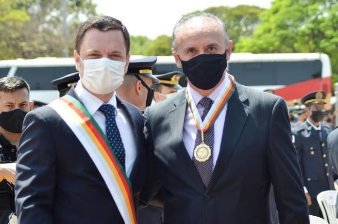 Ministro da Justiça e Segurança Pública, Anderson Torres e Diretor-Geral do Departamento de Trânsito do Distrito Federal Zélio Maia