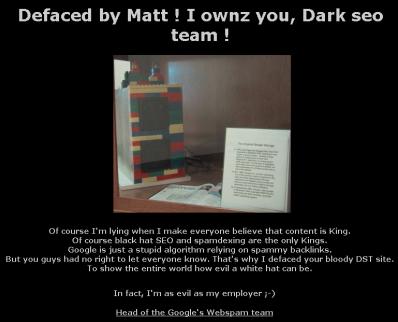 Dark SEO Team defaceado por Matt Cutts