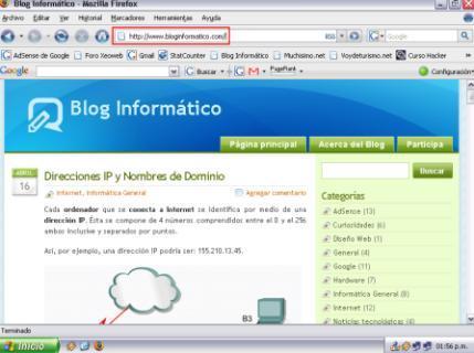 Dirección URL de Bloginformatico.com