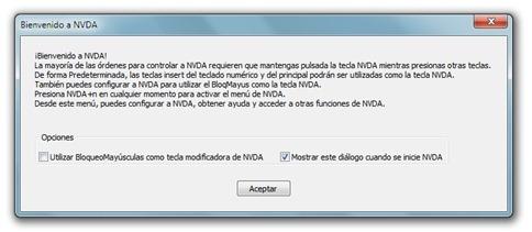 Lectores de pantalla - Software para invidentes - NVDA