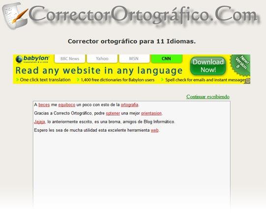 Corrector Ortográfico