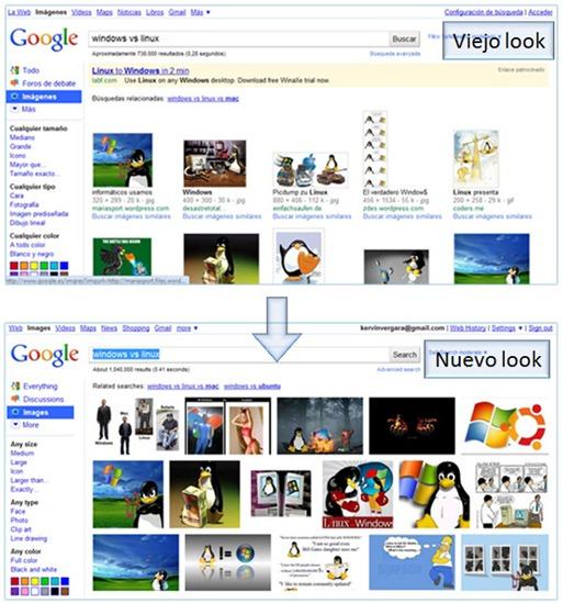 Imágenes de Google rediseñado
