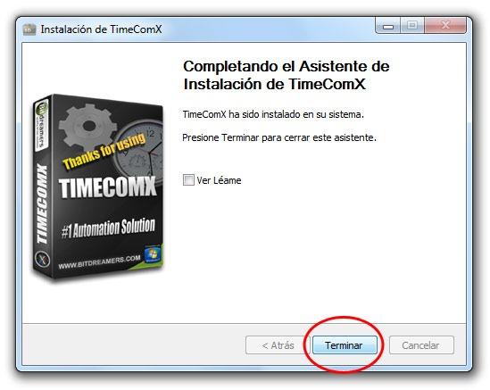TimeComX - Paso 6