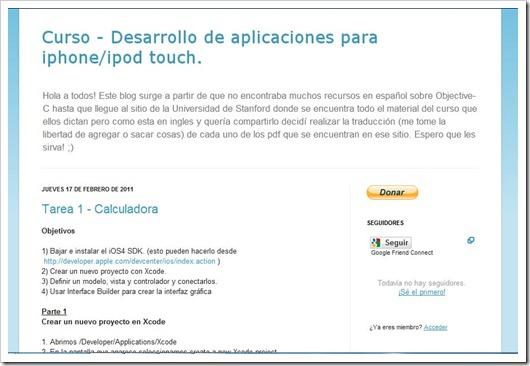 Cocoaenespañol - Curso - Desarrollo de aplicaciones para iphoneipod touch