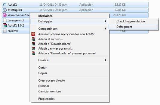 Defraggler en el Explorador de Windows