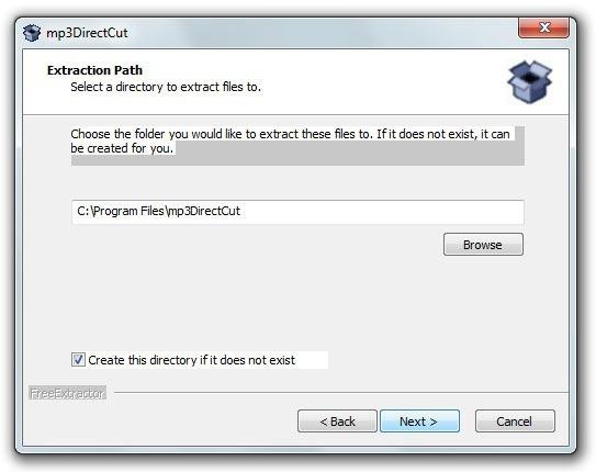 mp3DirectCut - Proceso de instalación 2
