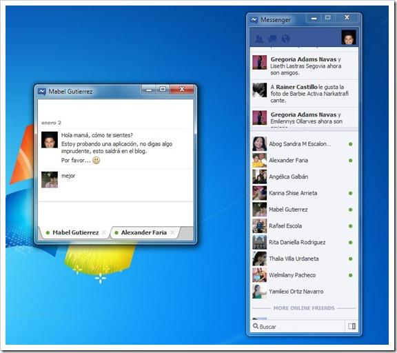 Facebook Messenger Windows 7