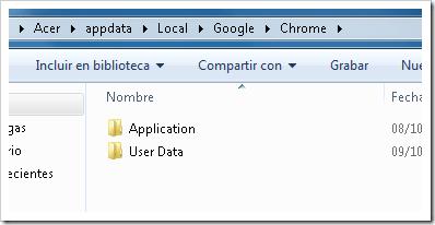 Borrar perfil de Chrome.