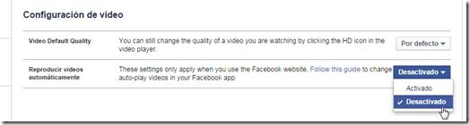 Desactivar la reproducción de videos