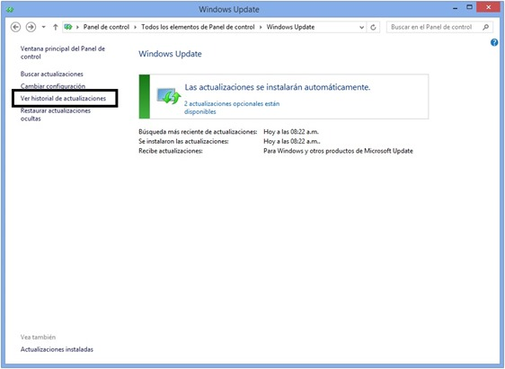 Windows Update en Windows 8
