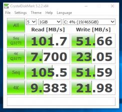 CrystalDiskMark - SSHD Dell Latitude E5440