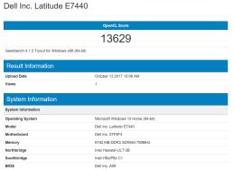 GeekBench - Dell Latitude E7440
