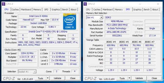 Probook 430 G1 - CPU-Z