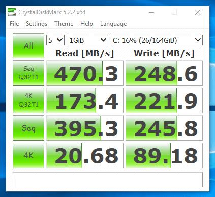 HP EliteBook Revolve 810 G1 - test viteza SSD