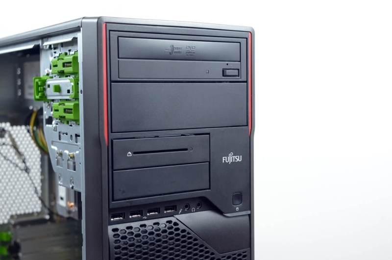 Fujitsu Esprimo P710 - panou frontal (4 x usb 2.0, unitate optica, smartcard reader, 2 x jack audio)