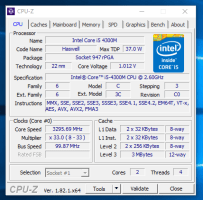 Lenovo ThinkPad T540 - CPU-Z