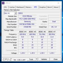 Lenovo ThinkPad T540 - CPU-Z Memorii