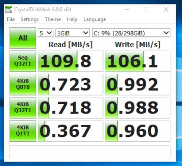 Fujitsu LIFEBOOK P702 - test viteza HDD