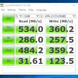 HP Elitebook 840 G1 - test viteza ssd