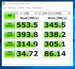HP Probook 650 G1 - test viteza ssd