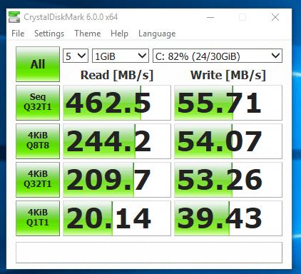 Dell Vostro 3460 - viteza SSD