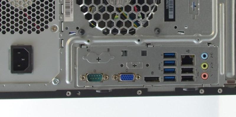 Lenovo ThinkCentre M82 - back panel