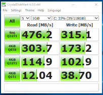 HP EliteBook 2170p - test viteza SSD