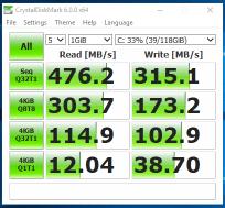 HP EliteBook 2170p - test viteza SSD