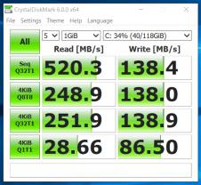 Lenovo ThinkPad S1 Yoga - Test SSD 128 GB