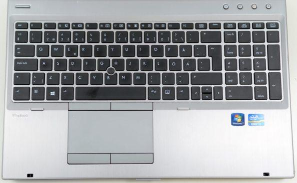 HP Elitebook 8570 - vedere superioara tastatura si touchpad