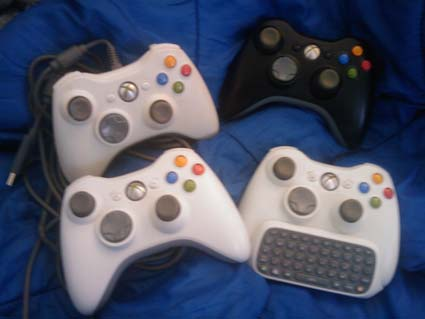 Xbox 360 Controllers Galore!