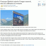 Please! Don't Upset the Cougars