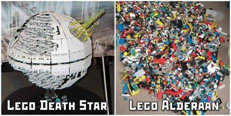 LEGO Star Wars  1) Lego Death Star  2) Lego Alderaan