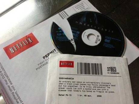 "Netflix Broken Disc: ""Unbreakable"""