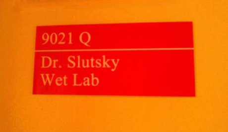 9021 Q - Dr. Slutsky - Wet Lab