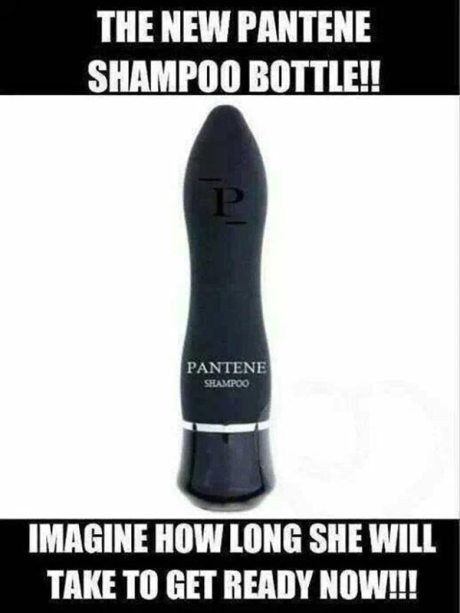 The New Pantene Shampoo Bottle ... Imagine How Long She Will Take to Get Ready Now!!