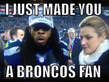 "Richard Sherman: ""I just made you a Broncos fan!"""
