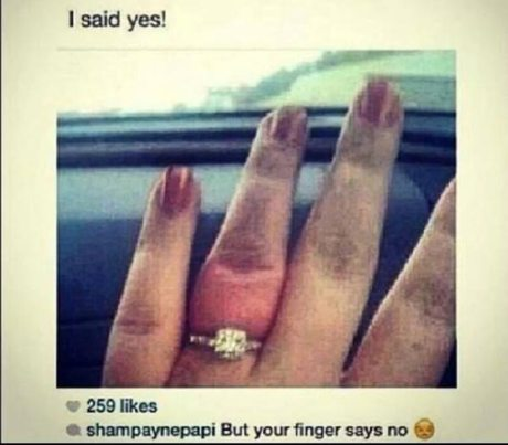 """I said yes!""  Smapaynepapi: ""But your finger says no. :-("""