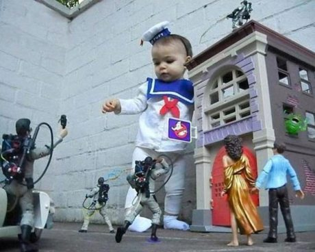 In Memory of Harold Ramis: Baby in Stay-Puft Costume