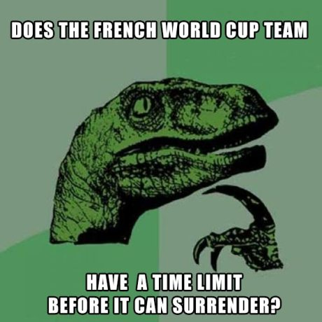 Does the French World Cup Team Have a Time Limit Before It Can Surrender?