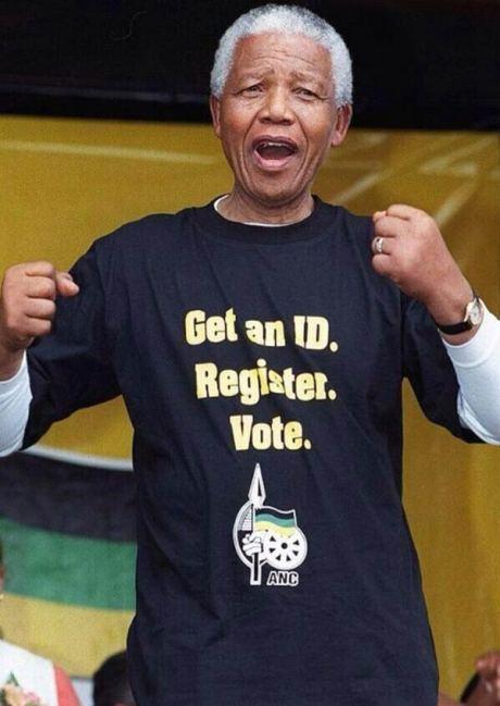 "Mandela: ""Get an ID. Register. Vote."""
