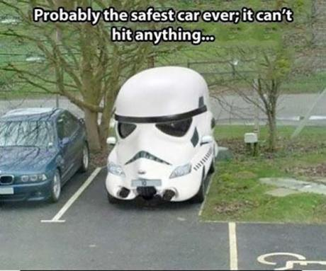 Probably the safety car ever; it can't hit anything...