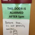 Are Your Doors Alarmed?