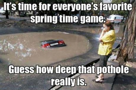 It's Time for Everyone's Favorite Spring Time Game: Guess How Deep That Puddle Is