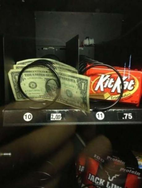 Ripoff Vending Machine: $1 for $2