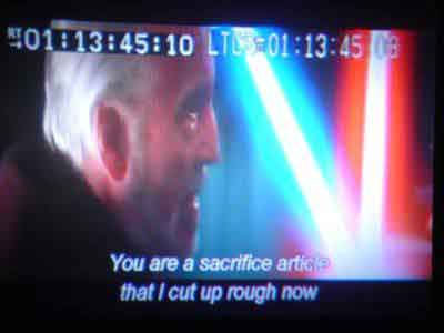 You are a sacrifice article that I cut up rough now!
