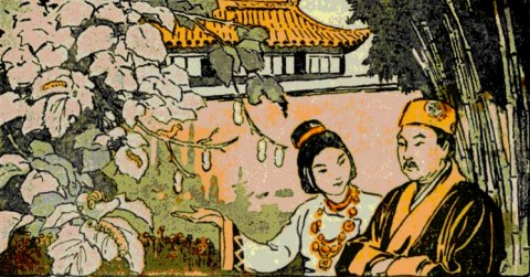 Leizu, the Goddess of Silk, stumbled upon the amazing properties of silk thread after dropping a cocoon in her tea.