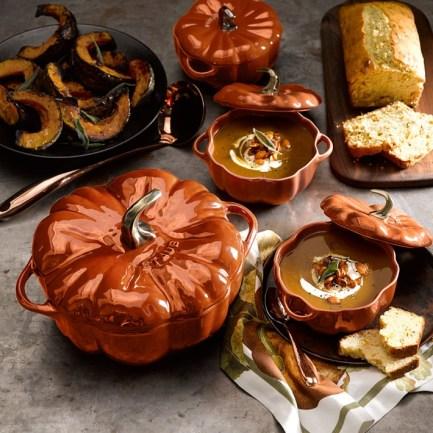 Staub Ceramic Pumpkin Cocotte - Williams Sonoma