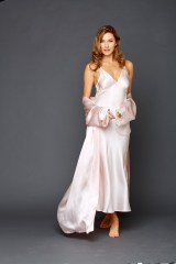 Ariadne Silk Long Gown and Indulgence Silk Robe in Delicate