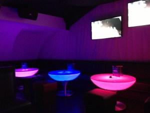 Tables lumineuses LIVE CLUB
